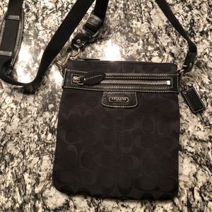Authentic Black Coach Crossbody Handbag